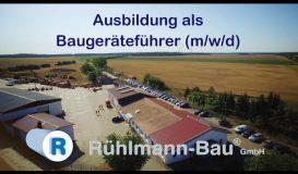 Ausbildung als Baugeraetefuehrer (m/w/d) bei Ruehlmann Bau